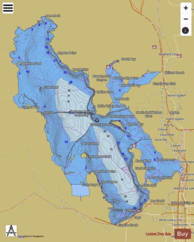 Great Salt Lake Fishing Map - i-Boating App