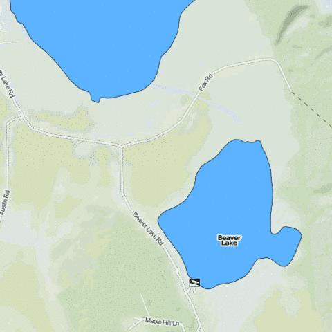 Beaver Lake Fishing Map - i-Boating App