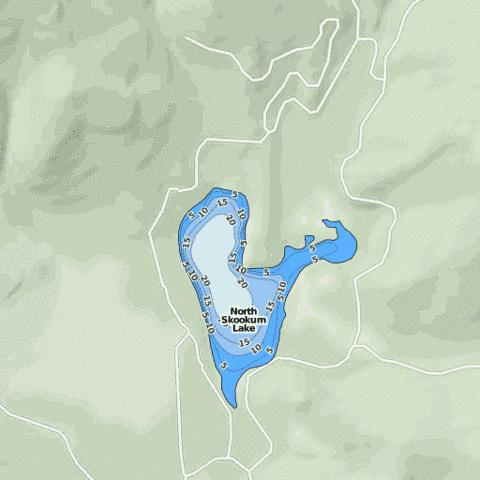 North Skookum Lake Fishing Map - i-Boating App