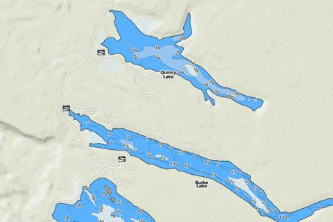 Quincy Lake Fishing Map - i-Boating App