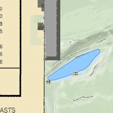 Toad Lake Fishing Map - i-Boating App