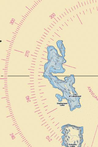 Steilacoom Lake Fishing Map - i-Boating App