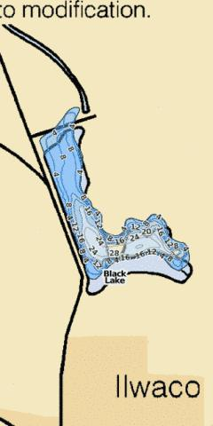 Black Lake Fishing Map - i-Boating App