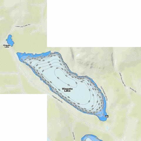Wapato Lake Fishing Map - i-Boating App
