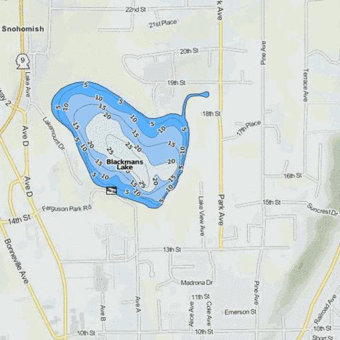 Blackmans Lake Fishing Map - i-Boating App