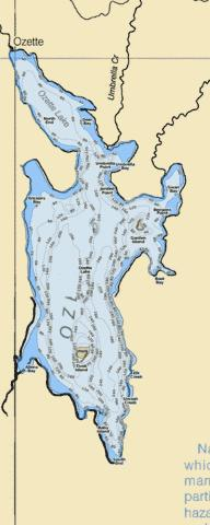Ozette Lake Fishing Map - i-Boating App