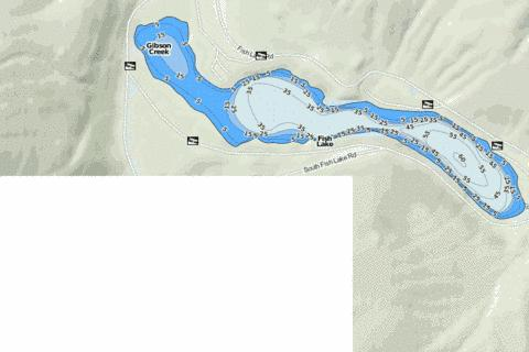 Fish Lake Fishing Map - i-Boating App