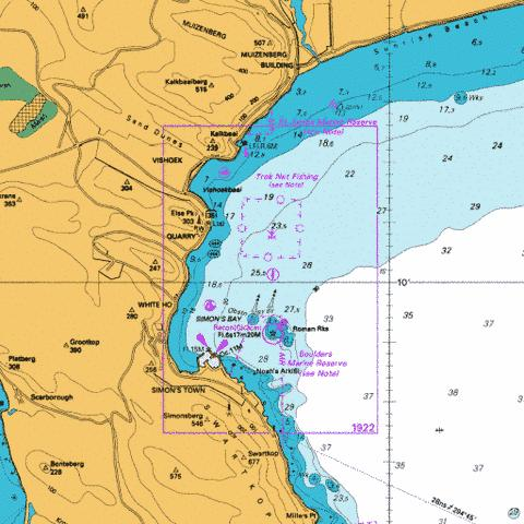 Simon's Bay Marine Chart - Nautical Charts App