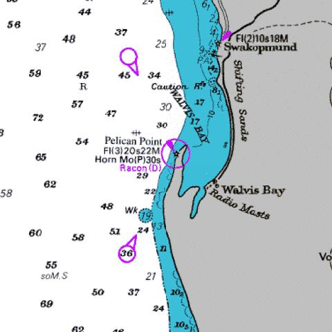 Approaches to Walvis Bay Marine Chart - Nautical Charts App