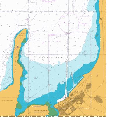 A  Walvis Bay Harbour Marine Chart - Nautical Charts App