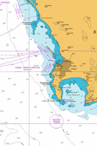 Table Bay to Valsbaai Marine Chart - Nautical Charts App