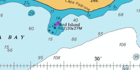 B Bird Island Passage Marine Chart - Nautical Charts App