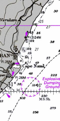 Approaches to Durban Marine Chart - Nautical Charts App
